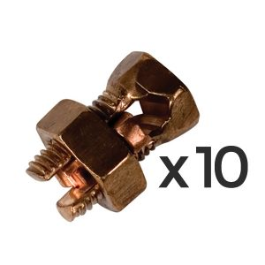 ElectroBraid® Copper Split Bolt Connector 10/pkg
