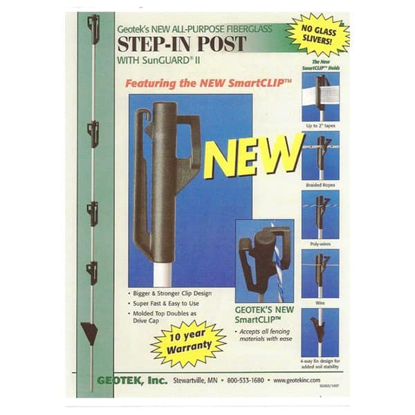 "3/8"" *Step In* Fiberglass Post"